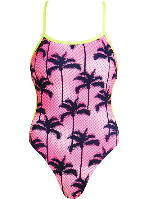 Funkita Cut Away One Piece Swimmsuit Ladies Pop Palm